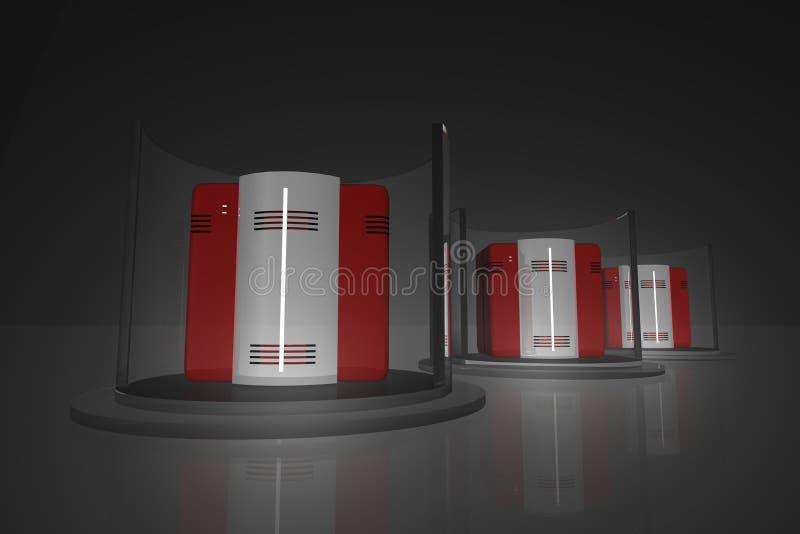 μαύρος κεντρικός υπολογιστής ραφιών 5 απεικόνιση αποθεμάτων