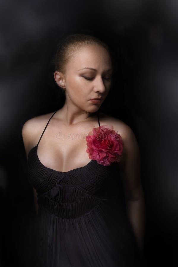 μαύρος κομψός κόκκινος φ&omic στοκ εικόνα