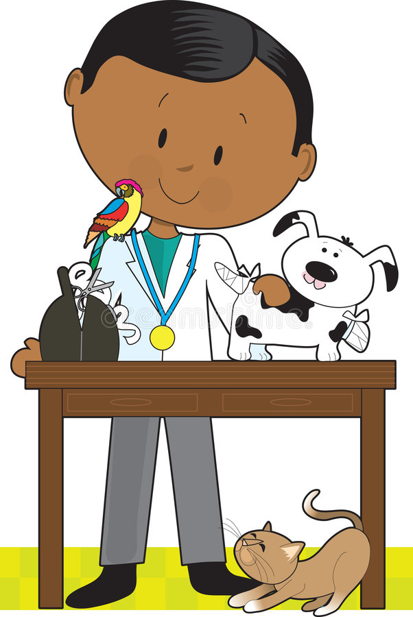 μαύρος κτηνίατρος κατοι&kap απεικόνιση αποθεμάτων