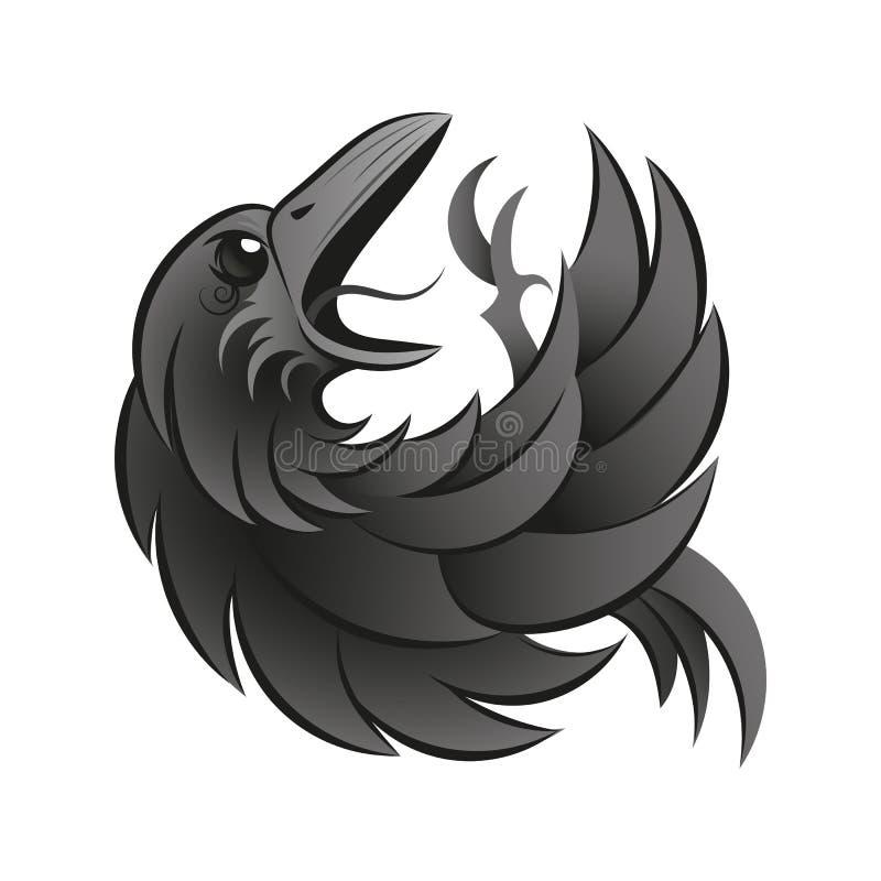 Μαύρος κόρακας γοτθικός απεικόνιση αποθεμάτων