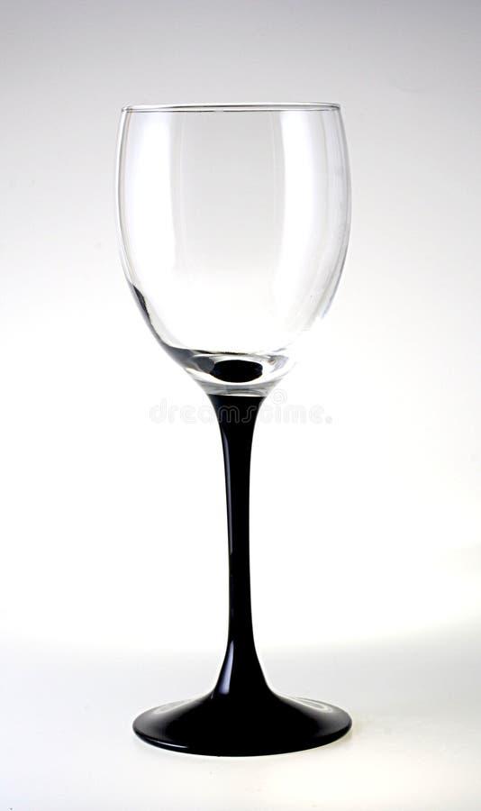 μαύρος μίσχος γυαλιού στοκ εικόνα