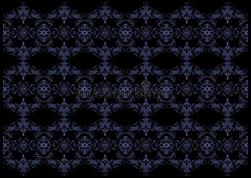 μαύρος μπλε floral ανασκόπησης ελεύθερη απεικόνιση δικαιώματος