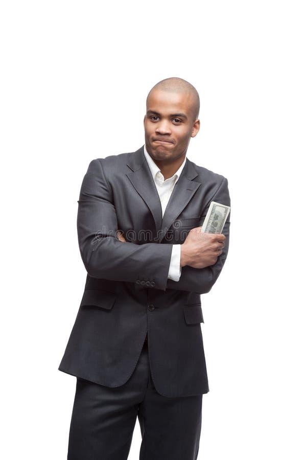 Μαύρος επιχειρηματίας στοκ εικόνες με δικαίωμα ελεύθερης χρήσης