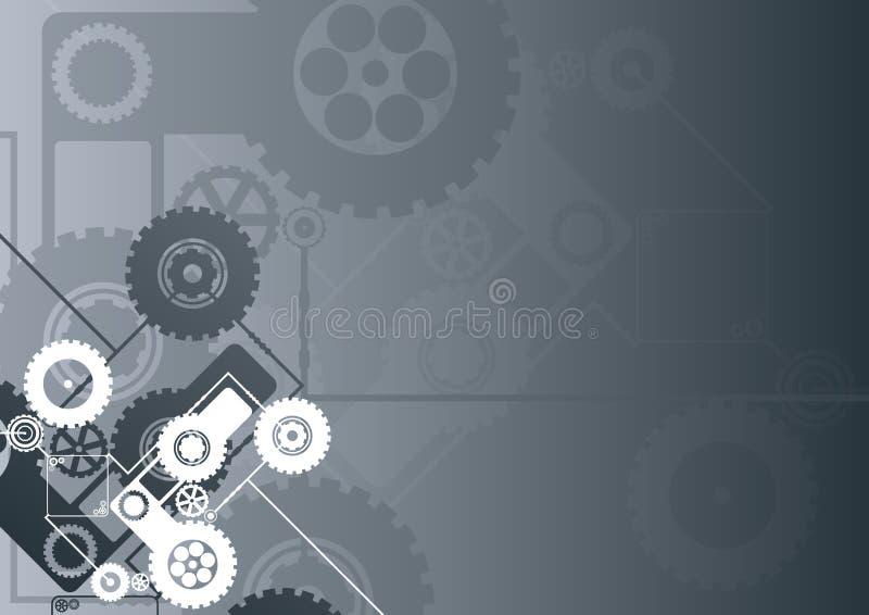 μαύρος οριζόντιος τεχνολογικός ανασκόπησης απεικόνιση αποθεμάτων
