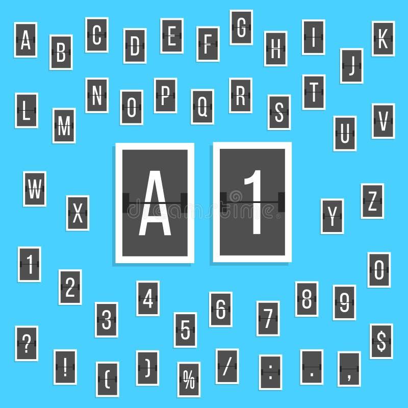 Μαύρος πίνακας βαθμολογίας αλφάβητου επιστολών και αριθμών απεικόνιση αποθεμάτων