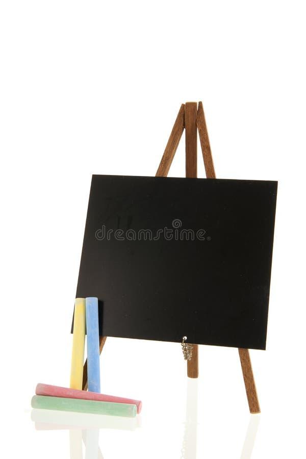Μαύρος πίνακας που απομονώνεται πέρα από το άσπρο υπόβαθρο στοκ εικόνες