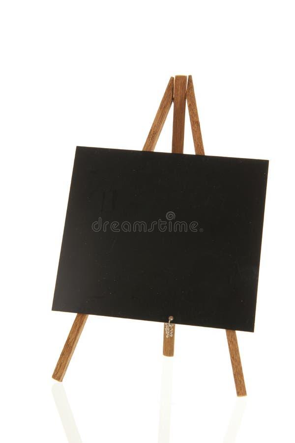 Μαύρος πίνακας που απομονώνεται πέρα από το άσπρο υπόβαθρο στοκ φωτογραφία με δικαίωμα ελεύθερης χρήσης