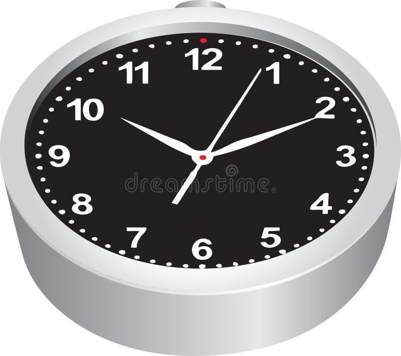 Μαύρος πίνακας στο ρολόι διανυσματική απεικόνιση