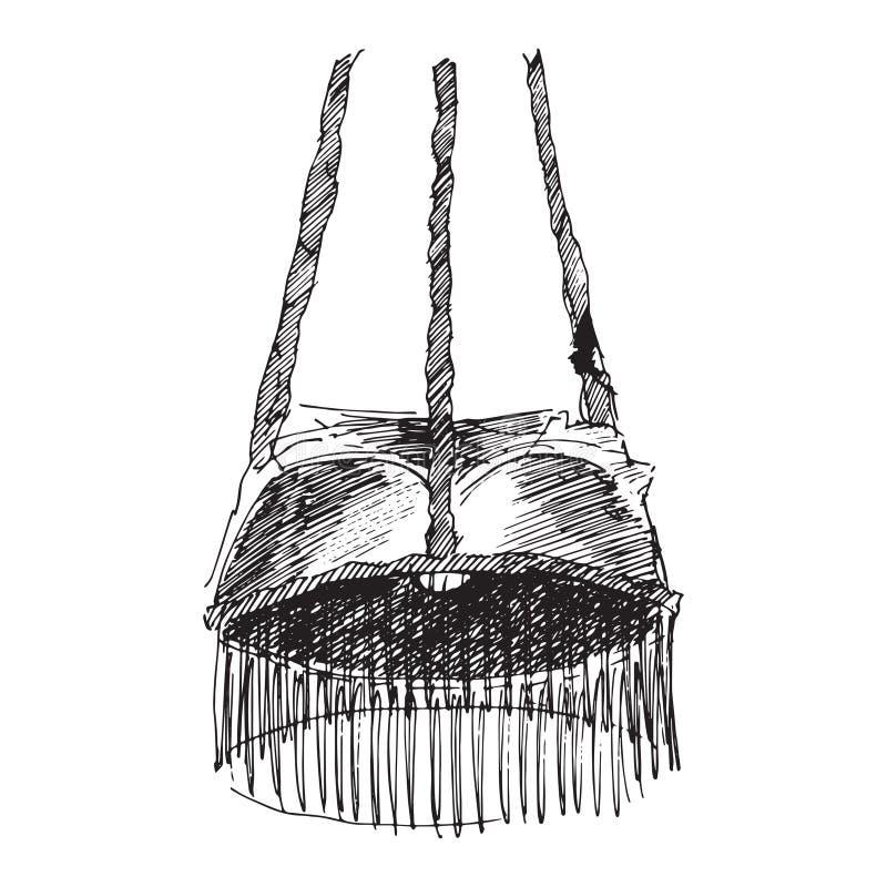 Μαύρος πολυέλαιος σκιαγραφιών απεικόνιση αποθεμάτων