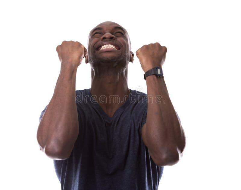Μαύρος που συγκλονίζεται όμορφος με τον ενθουσιασμό στοκ φωτογραφία με δικαίωμα ελεύθερης χρήσης