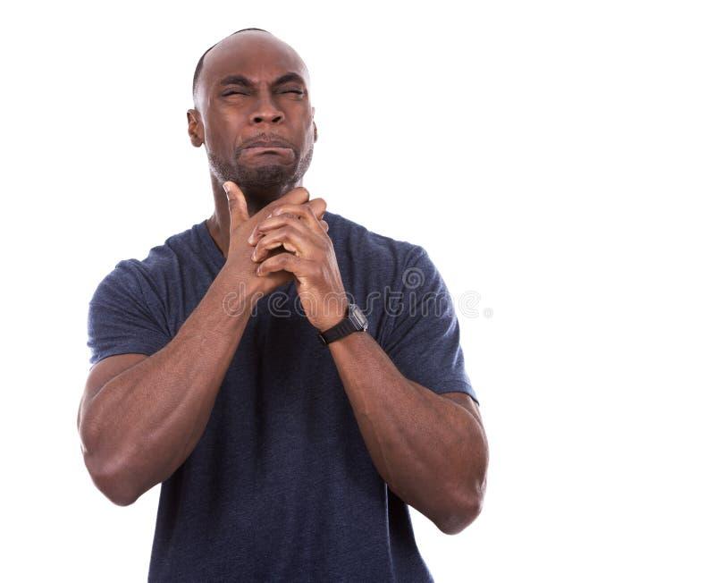 Μαύρος που φοβάται όμορφος στοκ εικόνα με δικαίωμα ελεύθερης χρήσης