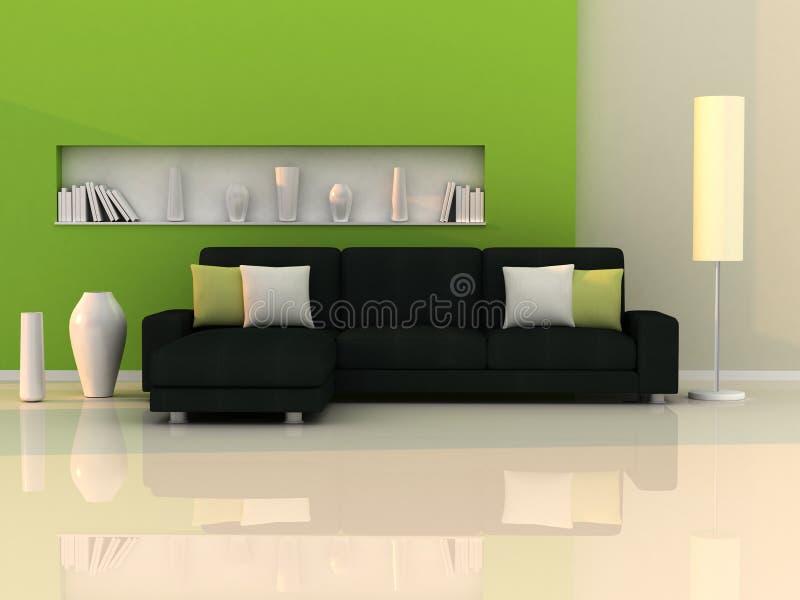 μαύρος πράσινος εσωτερι&k απεικόνιση αποθεμάτων