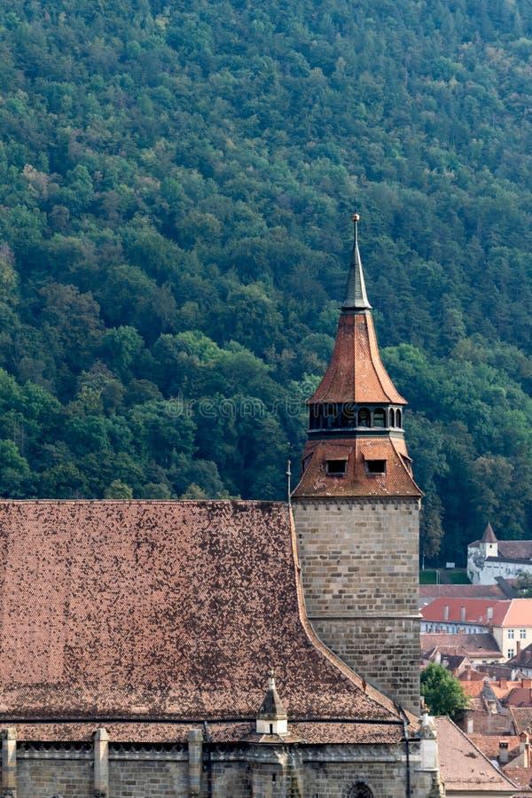 Μαύρος πύργος εκκλησιών σε Brasov, Τρανσυλβανία, Ρουμανία στοκ εικόνες