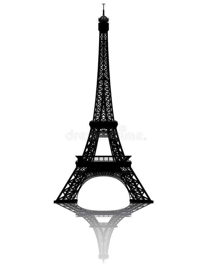 μαύρος πύργος σκιαγραφιώ&n ελεύθερη απεικόνιση δικαιώματος
