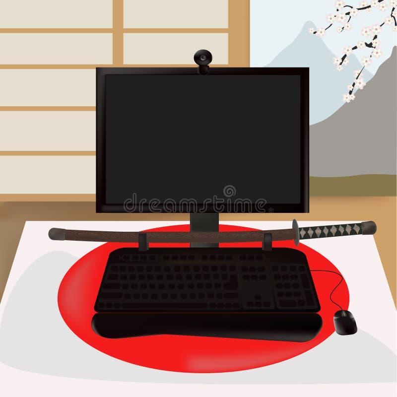 Download μαύρος Σαμουράι μηνυτόρων διανυσματική απεικόνιση. εικονογραφία από τιμή - 13189028