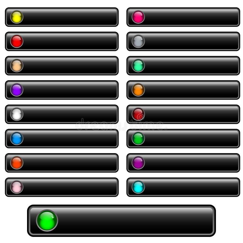 μαύρος στιλπνός Ιστός κο&upsilo διανυσματική απεικόνιση