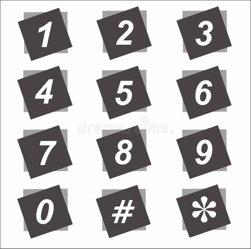 Μαύρος τετραγωνικός αριθμός στοκ φωτογραφία με δικαίωμα ελεύθερης χρήσης