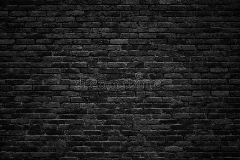 Μαύρος τουβλότοιχος, σκοτεινό υπόβαθρο για το σχέδιο στοκ φωτογραφίες
