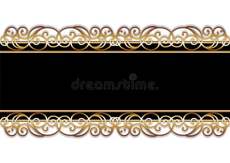 μαύρος χρυσός ράβδων ελεύθερη απεικόνιση δικαιώματος