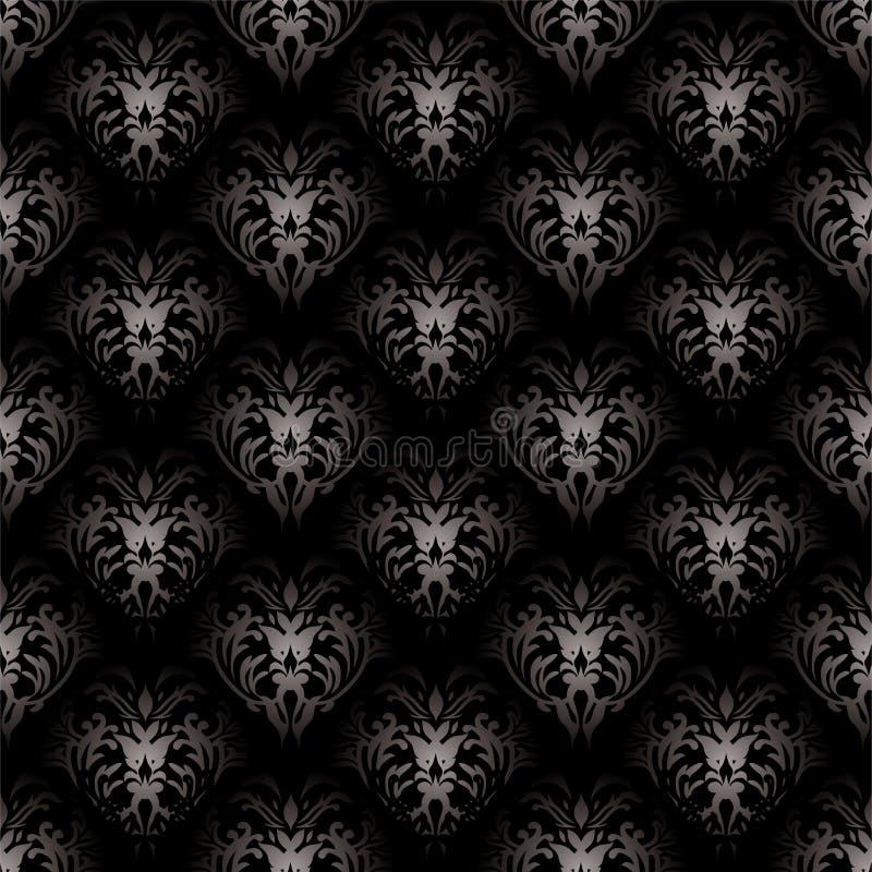 μαύρος floral γοτθικός ελεύθερη απεικόνιση δικαιώματος