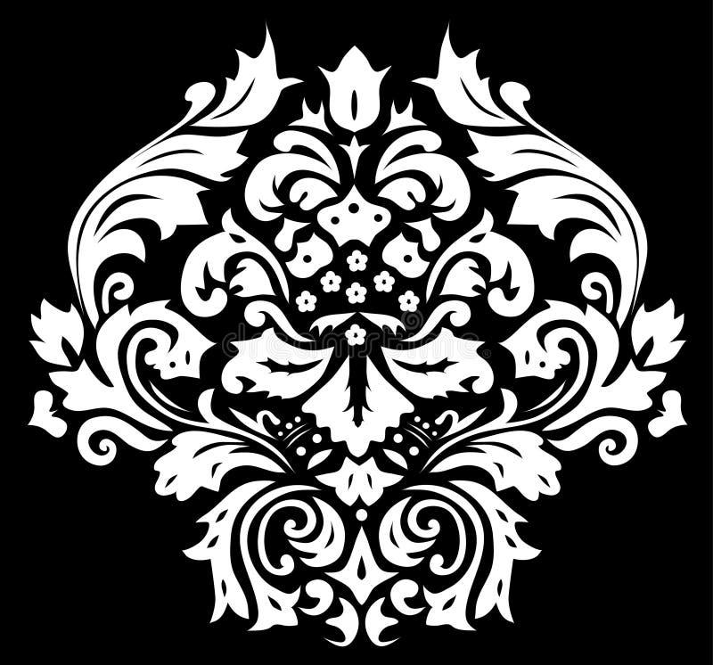 μαύρος floral συμμετρικός διακοσμήσεων ελεύθερη απεικόνιση δικαιώματος