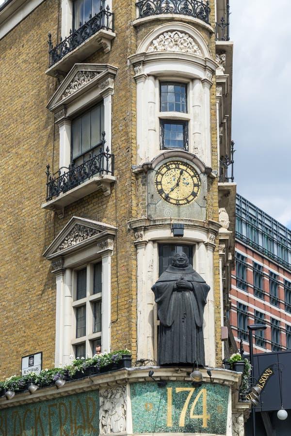 Μαύρος Friar στο Λονδίνο στοκ εικόνες
