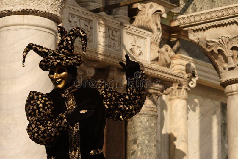 μαύρος jester στοκ εικόνες
