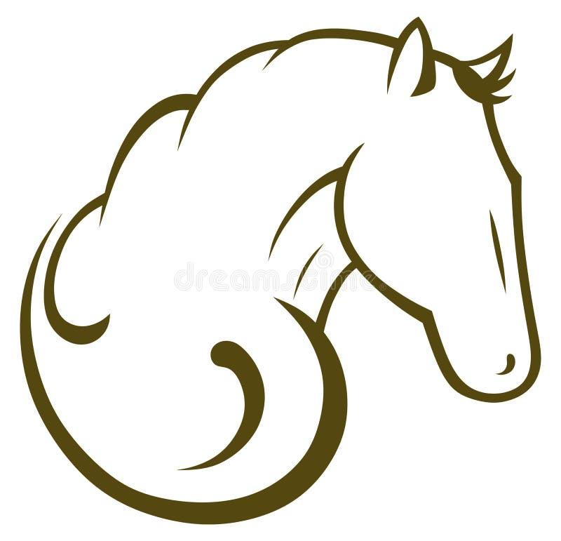 Μαύρο άλογο σκιαγραφιών διανυσματική απεικόνιση