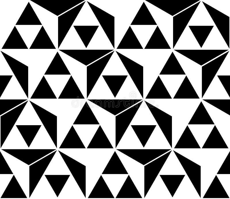 μαύρο άνευ ραφής λευκό πρ&omicron απεικόνιση αποθεμάτων