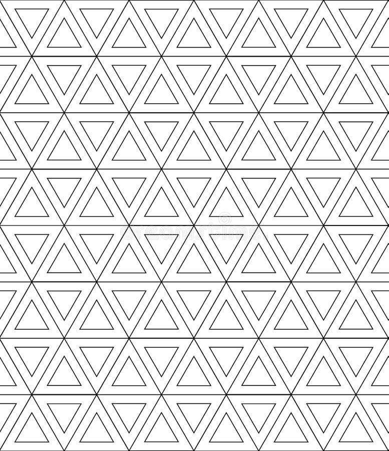 μαύρο άνευ ραφής λευκό πρ&omicron διανυσματική απεικόνιση