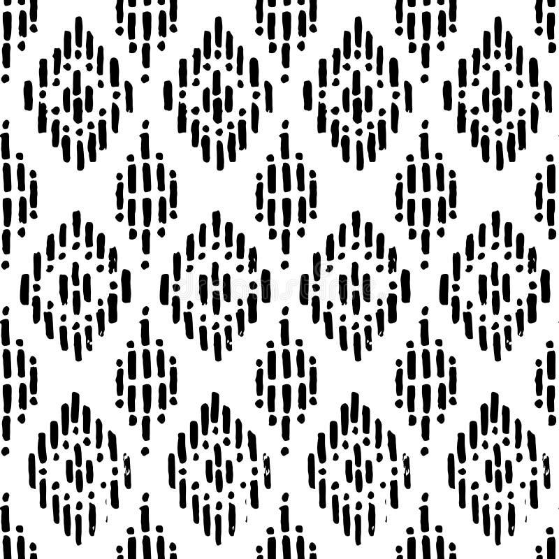 μαύρο άνευ ραφής λευκό πρ&omicron Σύσταση Grunge αφηρημένη τυπωμένη ύλη ελεύθερη απεικόνιση δικαιώματος