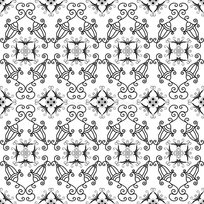 μαύρο άνευ ραφής λευκό πρ&omicron ελεύθερη απεικόνιση δικαιώματος