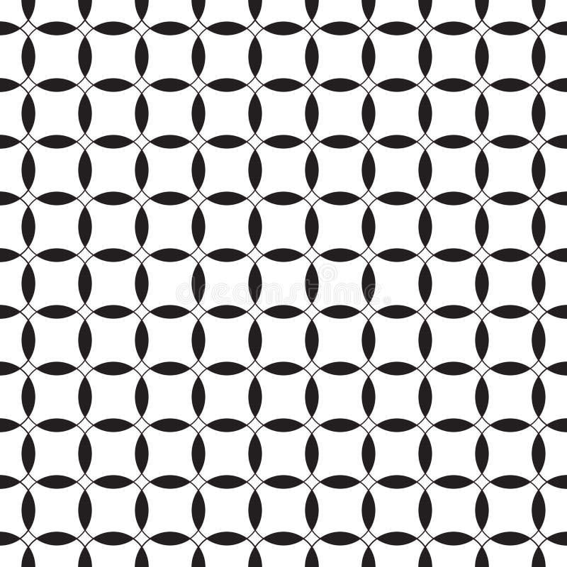 μαύρο άνευ ραφής λευκό πρ&omicron Στοκ Εικόνες
