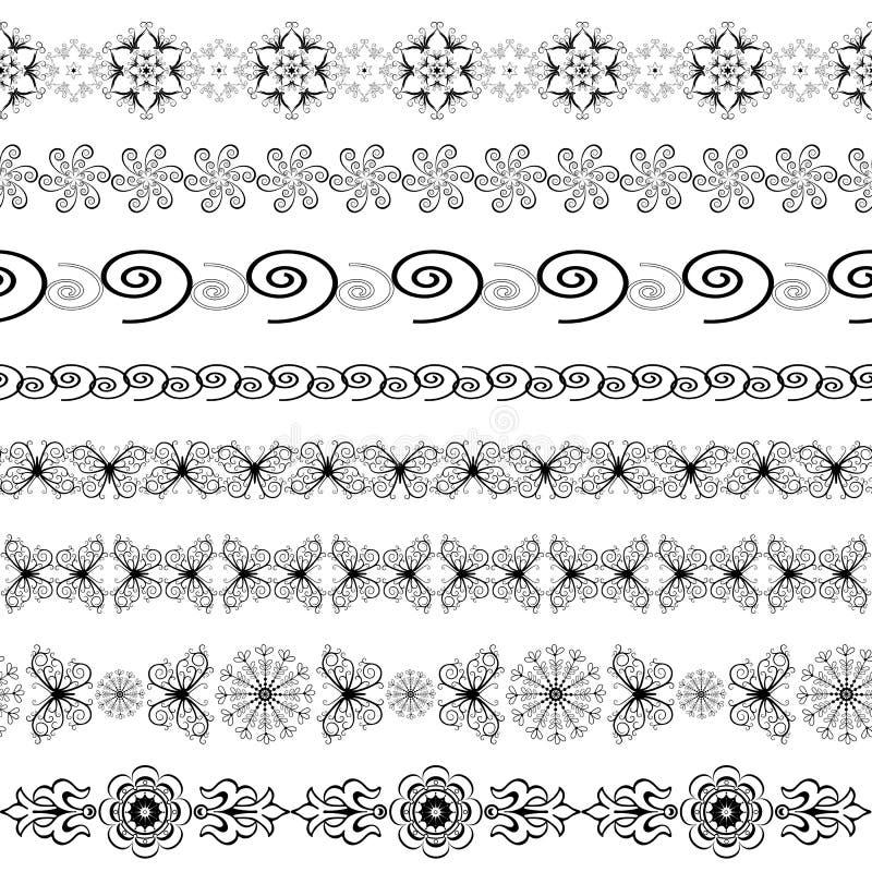 μαύρο άνευ ραφής λευκό συ& απεικόνιση αποθεμάτων