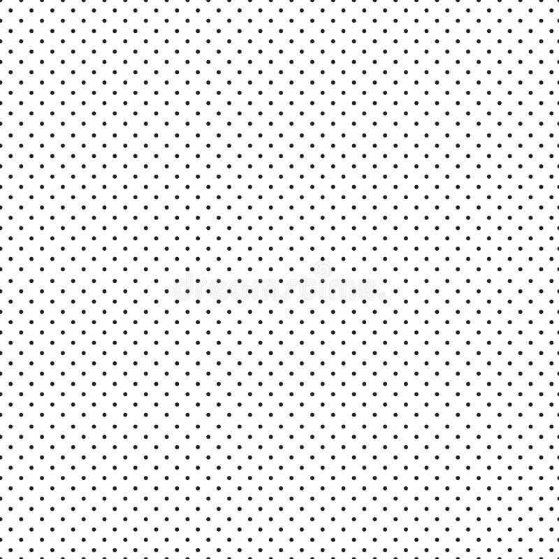 Μαύρο άνευ ραφής σχέδιο σημείων Πόλκα r ελεύθερη απεικόνιση δικαιώματος