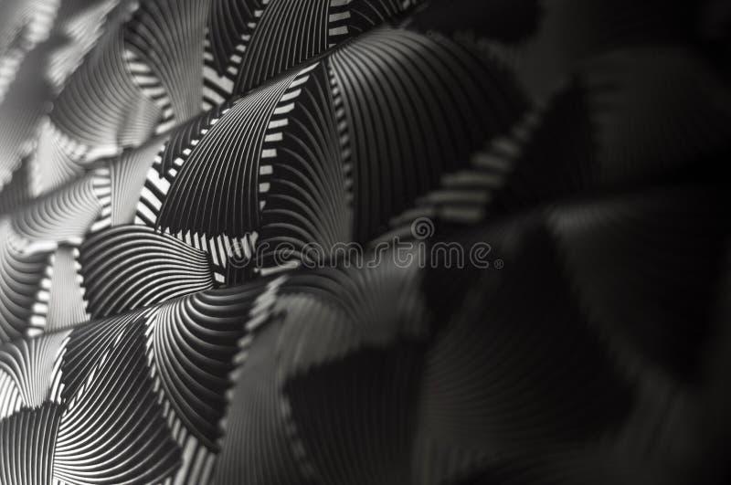 Μαύρο άσπρο αφηρημένο υπόβαθρο σύστασης ντεκόρ εγγράφου σχεδίου στοκ εικόνα