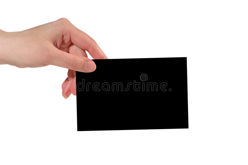 μαύρο έγγραφο εκμετάλλε& στοκ φωτογραφία με δικαίωμα ελεύθερης χρήσης