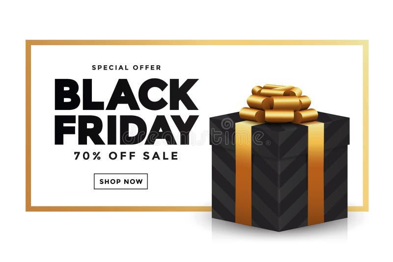 Μαύρο έμβλημα 2 πώλησης Παρασκευής διανυσματική απεικόνιση