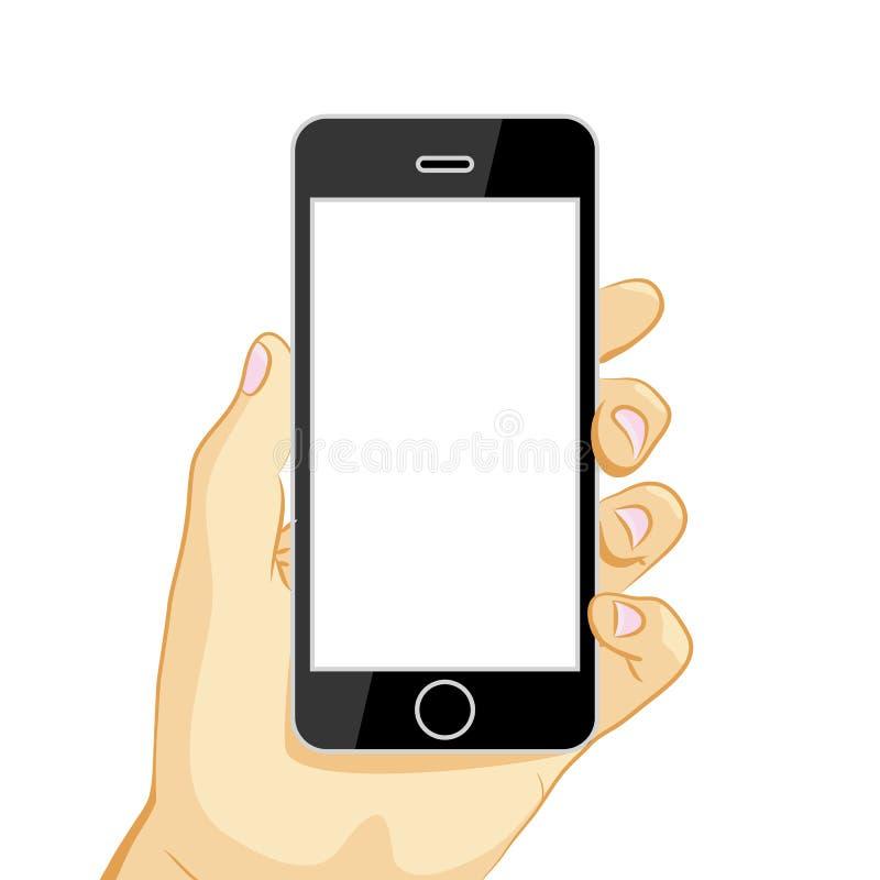 Μαύρο έξυπνο τηλέφωνο ελεύθερη απεικόνιση δικαιώματος