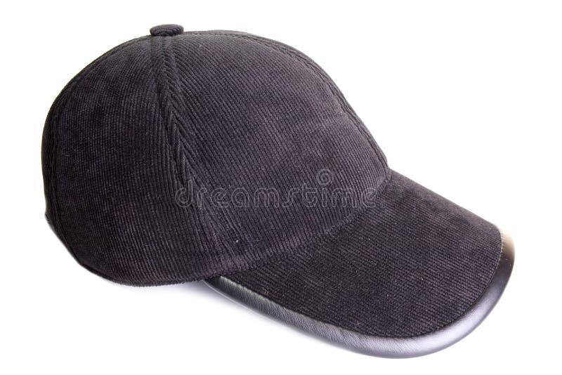 μαύρο αθλητικό velveteen ΚΑΠ στοκ εικόνα με δικαίωμα ελεύθερης χρήσης