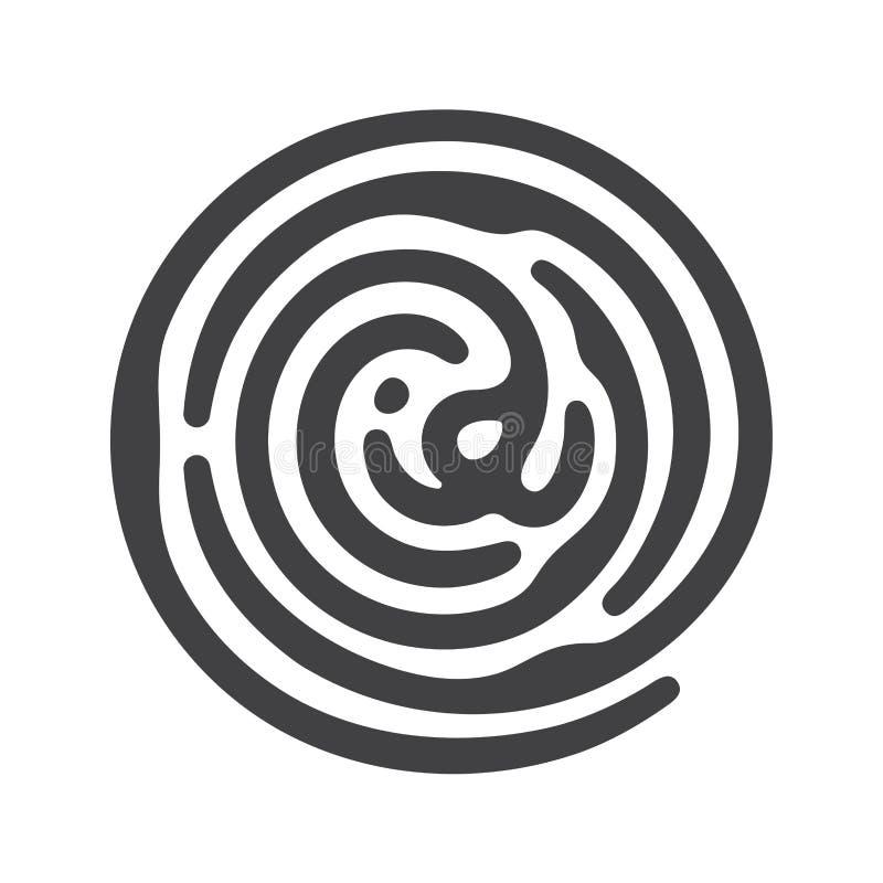 Μαύρο δακτυλικό αποτύπωμα ταυτότητας απεικόνιση αποθεμάτων