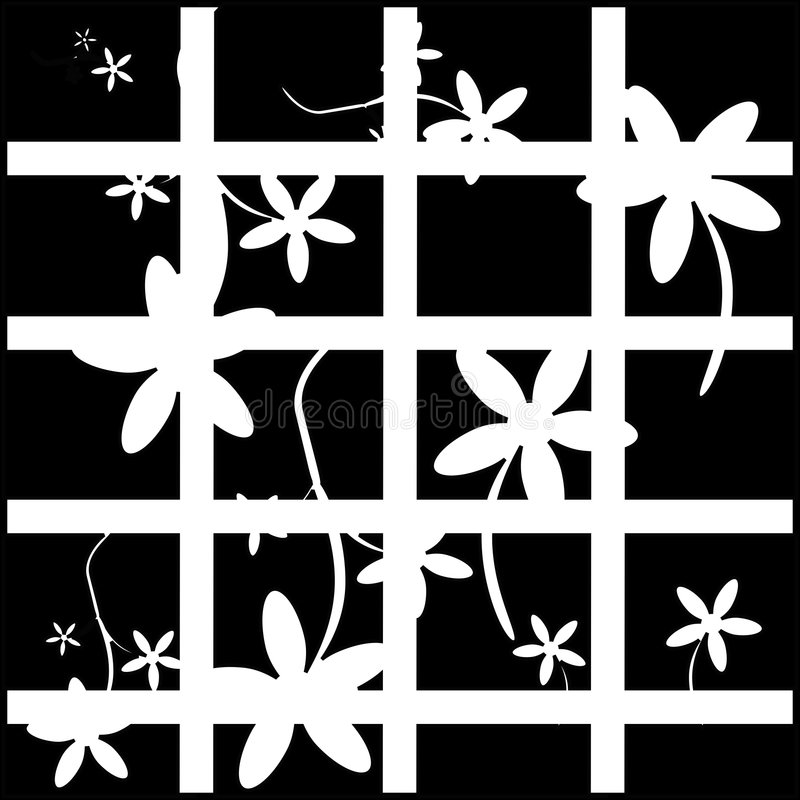μαύρο αναδρομικό λευκό α&nu διανυσματική απεικόνιση