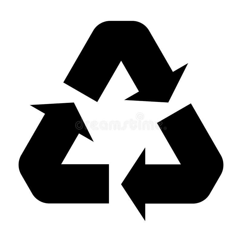 μαύρο ανακύκλωσης σύμβολο που απομονώνεται στο λευκό για το σχέδιο και το σχέδιο απεικόνιση αποθεμάτων