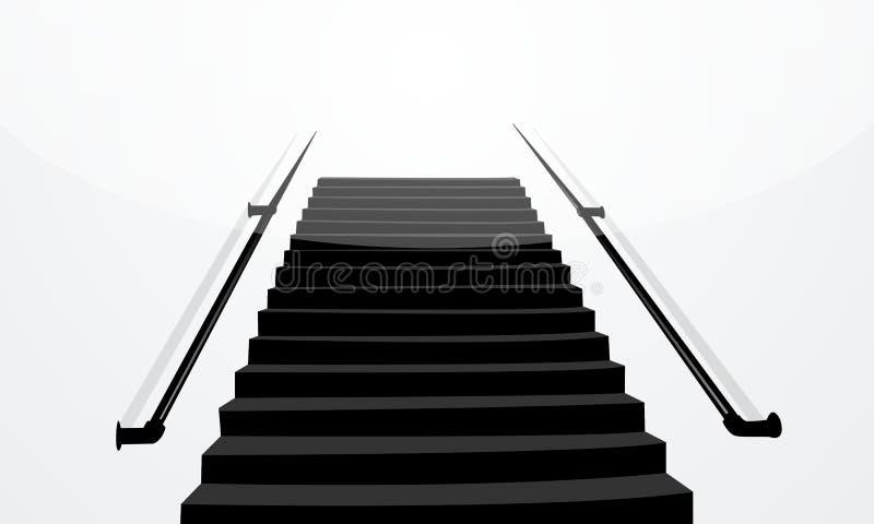 μαύρο απομονωμένο απεικόνιση λευκό σκαλοπατιών ανασκόπησης στοκ φωτογραφία με δικαίωμα ελεύθερης χρήσης