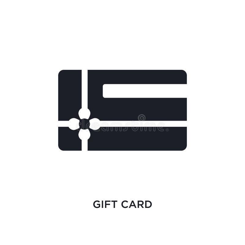 μαύρο απομονωμένο κάρτα διανυσματικό εικονίδιο δώρων απλή απεικόνιση στοιχείων από τα διανυσματικά εικονίδια έννοιας ηλεκτρονικού ελεύθερη απεικόνιση δικαιώματος