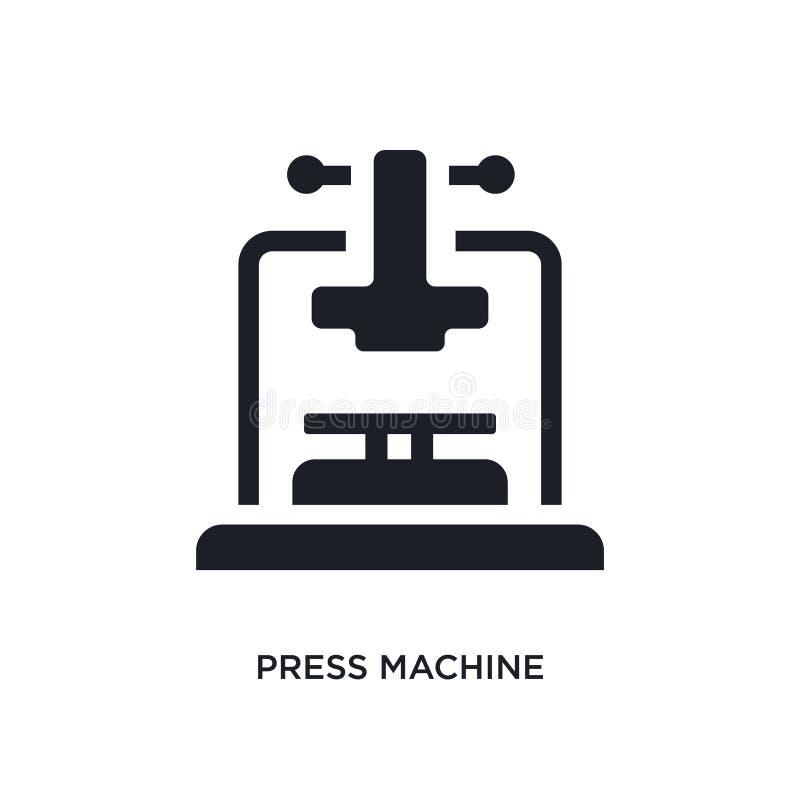 μαύρο απομονωμένο μηχανή διανυσματικό εικονίδιο Τύπου απλή απεικόνιση στοιχείων από τα διανυσματικά εικονίδια έννοιας βιομηχανίας διανυσματική απεικόνιση