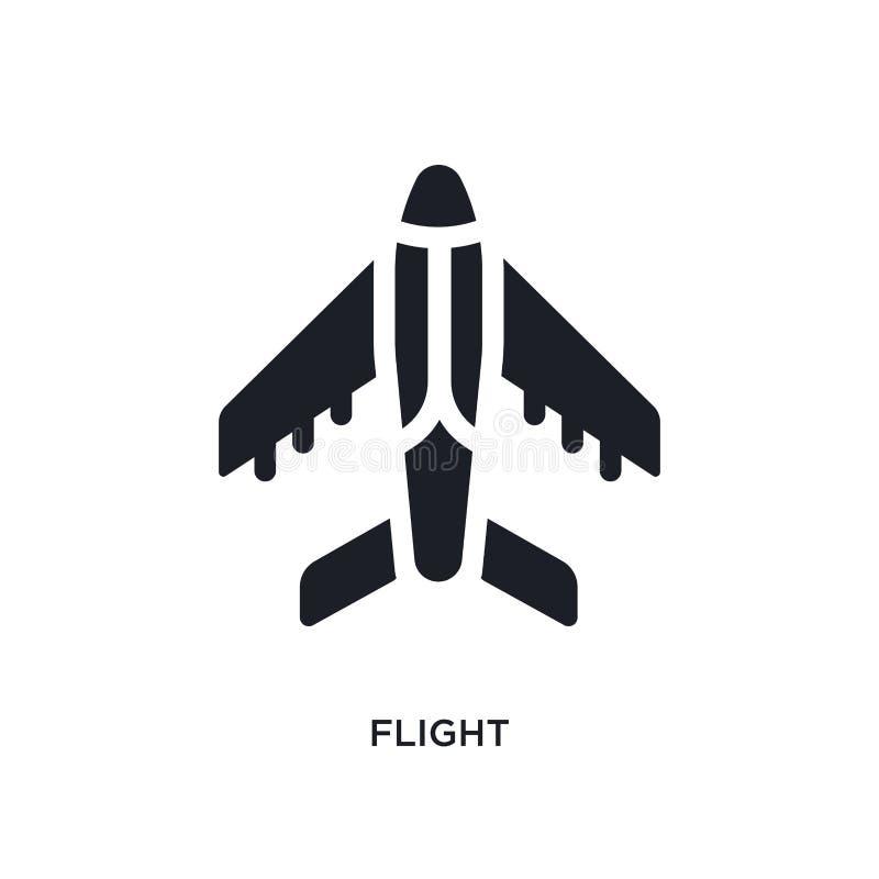 μαύρο απομονωμένο πτήση διανυσματικό εικονίδιο απλή απεικόνιση στοιχείων από τα διανυσματικά εικονίδια έννοιας αρχιτεκτονικής και διανυσματική απεικόνιση
