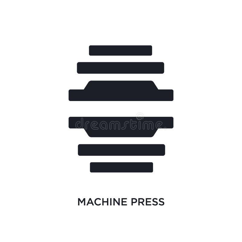 μαύρο απομονωμένο Τύπος διανυσματικό εικονίδιο μηχανών απλή απεικόνιση στοιχείων από τα διανυσματικά εικονίδια έννοιας βιομηχανία διανυσματική απεικόνιση