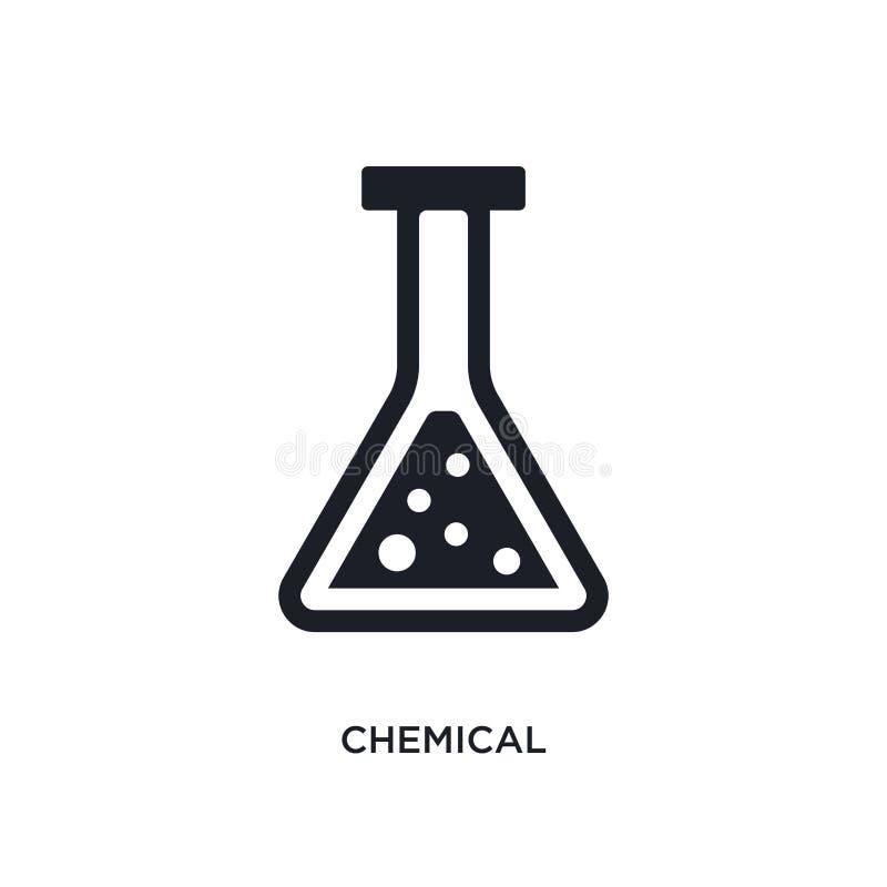 μαύρο απομονωμένο χημική ουσία διανυσματικό εικονίδιο απλή απεικόνιση στοιχείων από τα διανυσματικά εικονίδια έννοιας βιομηχανίας ελεύθερη απεικόνιση δικαιώματος