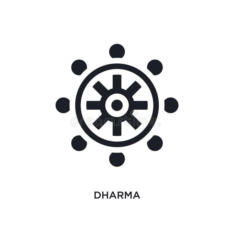 μαύρο απομονωμένο dharma διανυσματικό εικονίδιο απλή απεικόνιση στοιχείων από τα διανυσματικά εικονίδια έννοιας θρησκείας editabl διανυσματική απεικόνιση